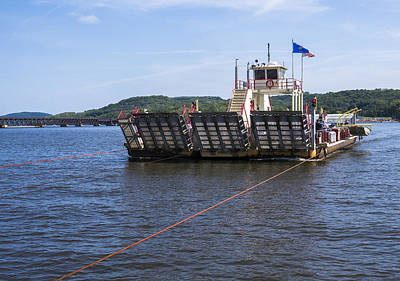 Photograph - Merrimac Ferry - Wisconin by Steven Ralser
