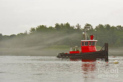 Art Print featuring the photograph Merrimack Mist by Alice Mainville