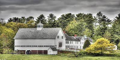 Maine Meadow Photograph - Merrucoonegan Farm by Richard Bean
