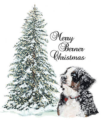 Gouache Painting - Merry Berner Christmas by Liane Weyers