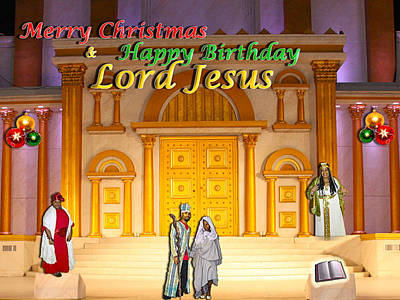 Photograph - Merry Birthday Lord Jesus6 by Terry Wallace