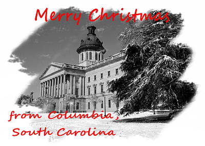 Photograph - Christmas Greeting Card From Columbia Sc by Joseph C Hinson Photography