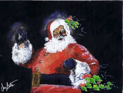 Painting - Merry Christmas 2014 by Jerry Bates
