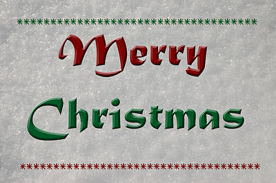Photograph - Merry Christmas by Aimee L Maher Photography and Art Visit ALMGallerydotcom
