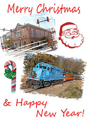 Photograph - Merry Christmas And Happy New Year by Joseph C Hinson Photography