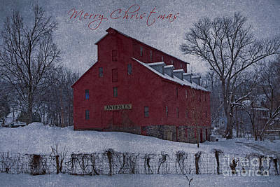 Photograph - Merry Christmas Antique Barn by John Stephens