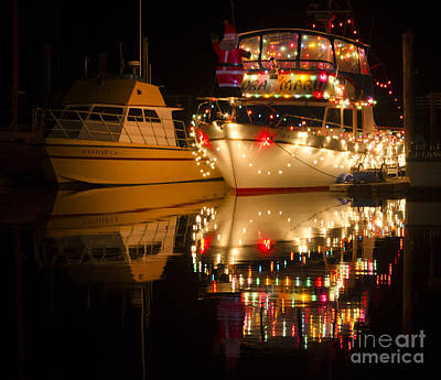 Photograph - Merry Christmas Bandon By The Sea 1 by Bob Christopher