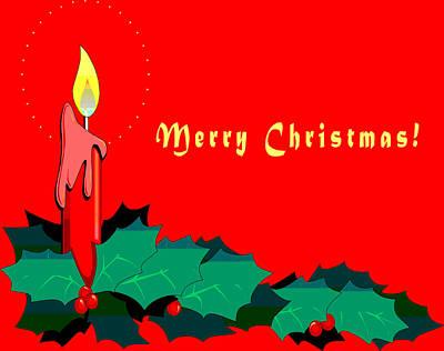 Christmas Cards Digital Art - Merry Christmas by Barbara Snyder