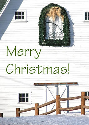 Photograph - Merry Christmas Barn 1186 by Jerry Sodorff