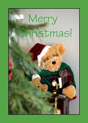 Photograph - Merry Christmas Bear 0722 by Jerry Sodorff