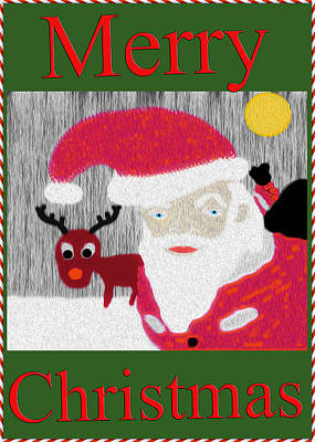 Christmas Cards Digital Art - Merry Christmas Card by Bill Cannon