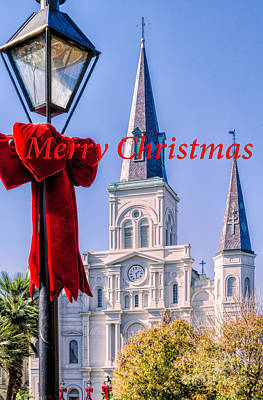 Photograph - Merry Christmas Card Nola by Kathleen K Parker