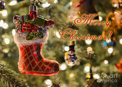 Photograph - Merry Christmas Card by Olga Hamilton