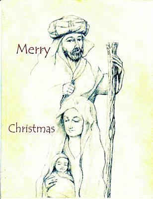 Nativity Digital Art - Merry Christmas by Charles McChesney