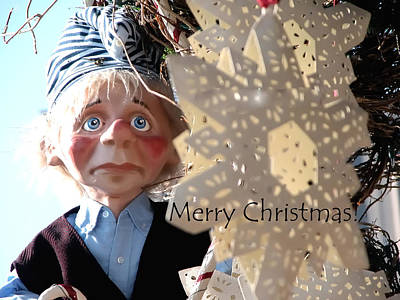 Photograph - Merry Christmas Clown 0208 by Jerry Sodorff