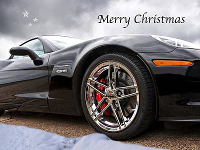 Photograph - Merry Christmas Corvette by Gill Billington