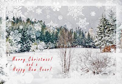 Christmas Holiday Scenery Photograph - Merry Christmas by Cristina-Velina Ion