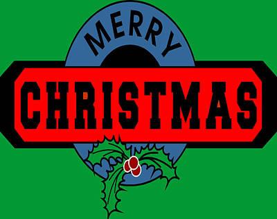 Christmas Cards Digital Art - Merry Christmas by Digital Creation