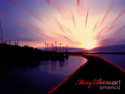 Photograph - Merry Christmas From Edmonds Washington Boat Marina by Eddie Eastwood