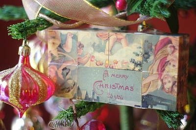 Art Print featuring the photograph Merry Christmas Greeting by Suzanne Powers