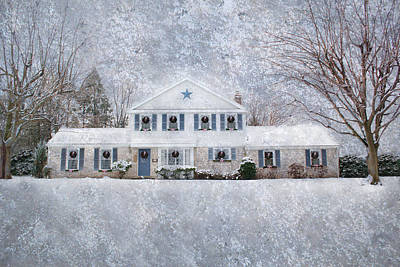 Wintry Holiday Art Print by Shelley Neff