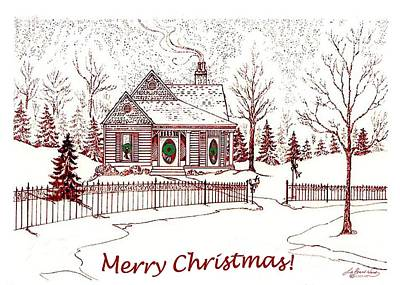 Drawing - Merry Christmas by Lizi Beard-Ward