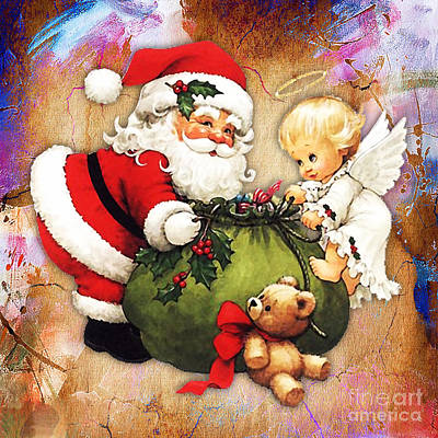 Mixed Media - Merry Christmas by Marvin Blaine