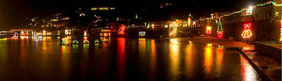 Photograph - Merry Christmas Mousehole Lights by Tony Mills