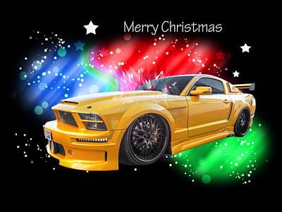 Photograph - Merry Christmas Mustang Gtr by Gill Billington