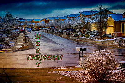 Photograph - Merry Christmas - Neighborhood by Mark Myhaver