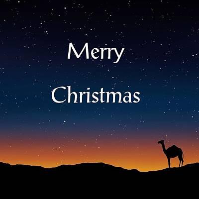 Digital Art - Merry Christmas Night by Florene Welebny