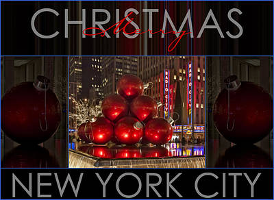 Photograph - Merry Christmas Nyc by Susan Candelario