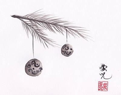 Asian Painting - Merry Christmas by Oiyee At Oystudio