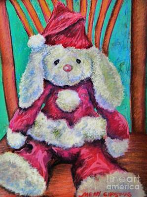 Merry Christmas Rabbit Art Print