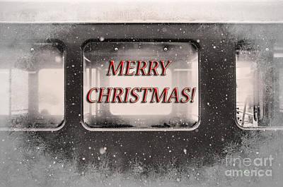 Merry Christmas Red Art Print by Janice Rae Pariza