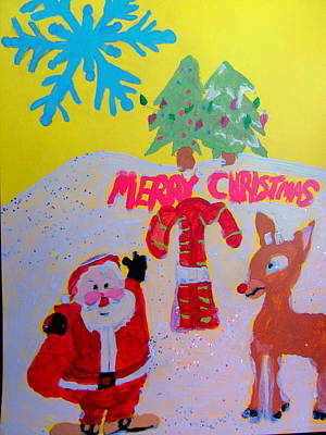 Painting - Merry Christmas Scene by Amy Bradley