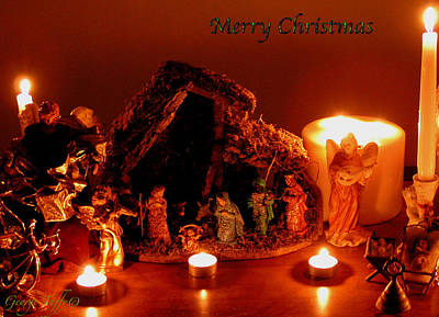 Photograph - Merry Christmas Scene by George Tuffy