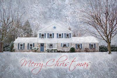 Wintry Holiday - Merry Christmas Art Print