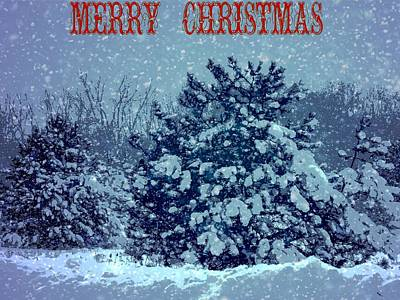 Mixed Media - Merry Christmas Snow by Dan Sproul