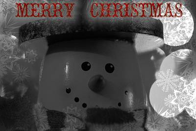 Photograph - Merry Christmas Snowman by Dan Sproul