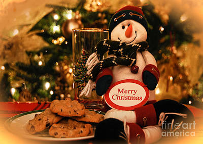 Photograph - Merry Christmas Snowman by Lois Bryan