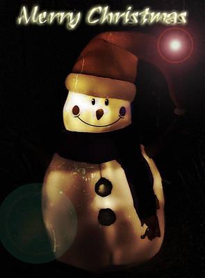 Photograph - Merry Christmas Snowman  by Saija  Lehtonen