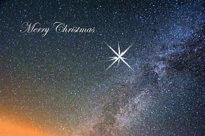 Merry Christmas Star Of Bethlehem Art Print