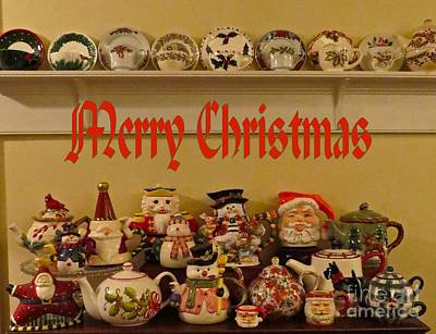 Photograph - Merry Christmas Tea by Nancy Patterson