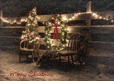 Xmas Cards Digital Art - Merry Christmas To All by Lori Deiter