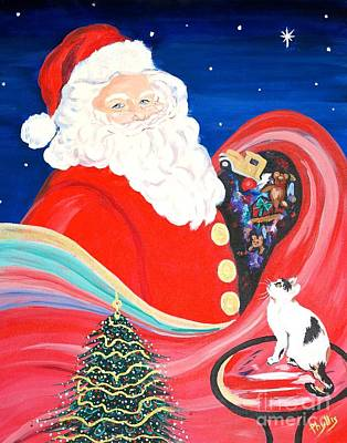 Painting - Merry Christmas To All by Phyllis Kaltenbach