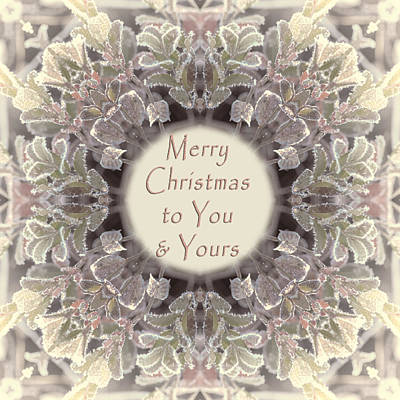 Photograph - Merry Christmas To You And Yours by Beth Sawickie