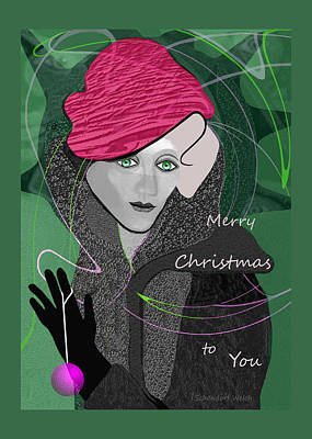 Painting - 1036 Merry Christmas To You by Irmgard Schoendorf Welch