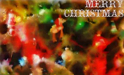 Mixed Media - Merry Christmas Tree Decorations by Dan Sproul