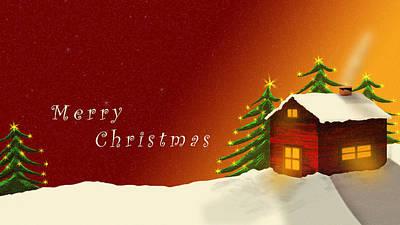Digital Art - Merry Christmas by Virginia Palomeque